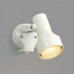 コイズミ照明 LEDスポットライト 防雨型 白熱球100W相当 電球色 タイマー付人感センサ付 オフホワイト AU40621L