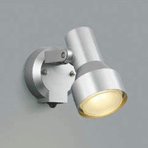 コイズミ照明 LEDスポットライト 防雨型 白熱球100W相当 電球色 タイマー付人感センサ付 シルバーメタリック AU40623L