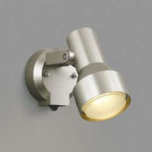 コイズミ照明 LEDスポットライト 防雨型 白熱球100W相当 電球色 タイマー付人感センサ付 ウォームシルバー AU40624L