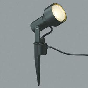 コイズミ照明 LEDスポットライト 防雨型 スパイク式 白熱球100W相当 電球色 プラグ付 黒 AU40630L