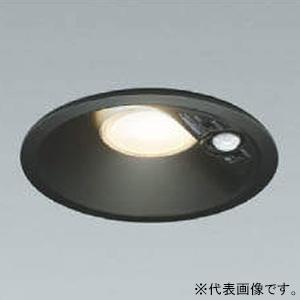 コイズミ照明 LED一体型ダウンライト ベースタイプ 防雨型 高気密SB形 埋込穴φ125 白熱球100W相当 電球色 拡散配光 マルチタイプ人感センサ付 黒 《パネルシリーズ》 AD41914L