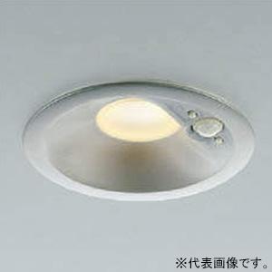 コイズミ照明 LED一体型ダウンライト ベースタイプ 防雨型 高気密SB形 埋込穴φ125 白熱球100W相当 電球色 拡散配光 マルチタイプ人感センサ付 ブライトシルバー 《パネルシリーズ》 AD41915L