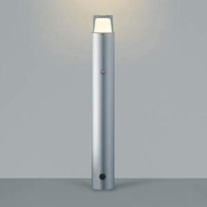 コイズミ照明 LED一体型ガーデンライト 防雨型 白熱球60W相当 電球色 自動点滅器付 シルバーメタリック AU42258L