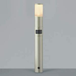 コイズミ照明 LED一体型ガーデンライト 防雨型 高さ745mm 白熱球60W相当 電球色 マルチタイプ人感センサ付 ウォームシルバー AU42276L