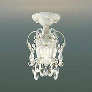コイズミ照明 LED小型シーリングライト 《Shabbylier》 白熱球60W相当 電球色 アンティークホワイト AH42287L