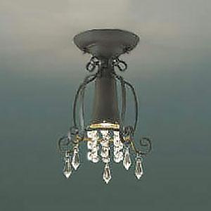 コイズミ照明 LED小型シーリングライト 《Shabbylier》 白熱球60W相当 電球色 アンティークブラウン AH42291L