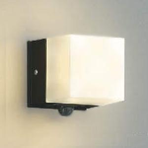 コイズミ照明 LED一体型勝手口灯 防雨型 白熱球60W相当 電球色 マルチタイプ人感センサ付 黒 AU42317L
