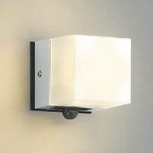 コイズミ照明 LED一体型勝手口灯 防雨型 白熱球60W相当 電球色 マルチタイプ人感センサ付 シルバーメタリック AU42318L