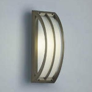 コイズミ照明 LED一体型勝手口灯 防雨型 天井・壁面・門柱取付用 白熱球40W相当 電球色 調光タイプ 銅ブロンズ AU42352L