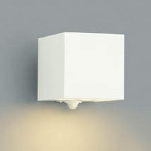 コイズミ照明 LED一体型ポーチ灯 防雨型 下方照射タイプ 白熱球40W相当 電球色 マルチタイプ人感センサ付 オフホワイト AU42365L