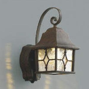 コイズミ照明 LED一体型ポーチ灯 防雨型 白熱球60W相当 電球色 マルチタイプ人感センサ付 アンティーク AU42402L