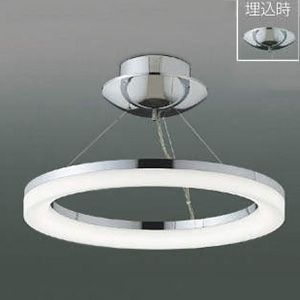 コイズミ照明 LEDシーリングライト 《Modelish Ring》 ~8畳用 直付・埋込取付タイプ 電球色 調光タイプ リモコン付 AH42700L