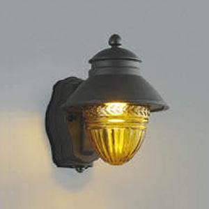 コイズミ照明 LED一体型ポーチ灯 防雨型 白熱球60W相当 電球色 マルチタイプ人感センサ付 アンバー AU43156L