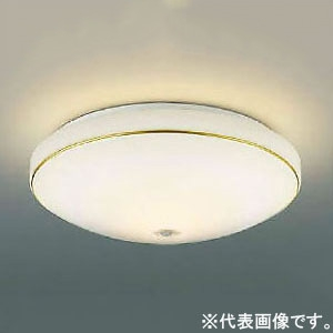 コイズミ照明 LED小型シーリングライト 内玄関用 FCL30W相当 電球色 人感センサ付 金 AH43179L