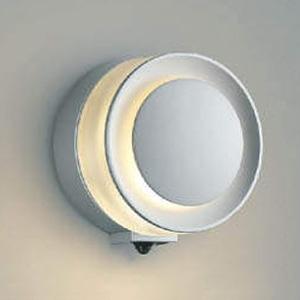 コイズミ照明 LED一体型ポーチ灯 《E.L.H.®》 防雨型 白熱球60W相当 電球色 マルチタイプ人感センサ付 シルバーメタリック AU43723L