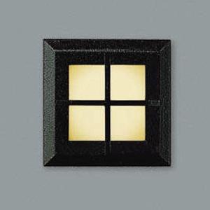 コイズミ照明 LED一体型フットライト 防雨型 電球色 黒 AU44101L