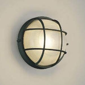 コイズミ照明 LED一体型ポーチ灯 防雨型 白熱球60W相当 電球色 黒 AU45053L