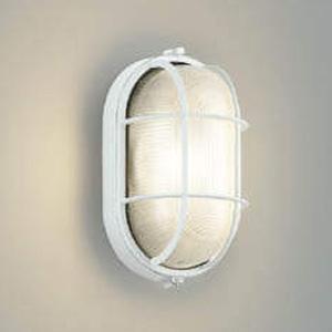 コイズミ照明 LED一体型ポーチ灯 防雨型 白熱球60W相当 電球色 白 AU45054L