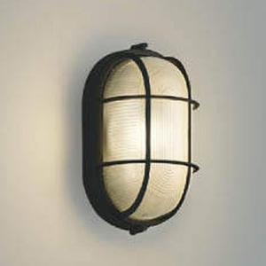 コイズミ照明 LED一体型ポーチ灯 防雨型 白熱球60W相当 電球色 黒 AU45055L
