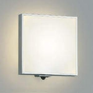 コイズミ照明 LED一体型ポーチ灯 防雨型 白熱球60W相当 電球色 マルチタイプ人感センサ付 シルバーメタリック AU45213L