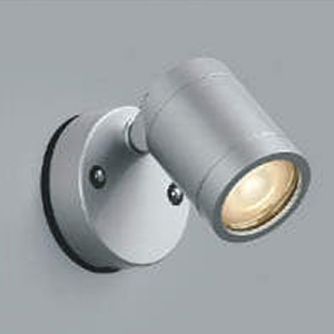 コイズミ照明 LED一体型スポットライト 防雨型 天井・壁面取付用 白熱球60W相当 電球色 中角タイプ シルバーメタリック AU45246L
