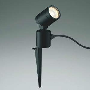 コイズミ照明 LED一体型スポットライト 防雨型 スパイク式 白熱球60W相当 電球色 拡散タイプ プラグ付 黒 AU45257L