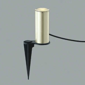 コイズミ照明 LED一体型ガーデンライト 防雨型 アッパー配光タイプ スパイク式 白熱球40W相当 電球色 プラグ付 ウォームシルバー AU45267L