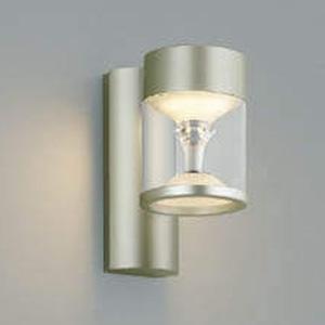 コイズミ照明 LED一体型ポーチ灯 《TWIN LOOKS》 防雨型 モダンタイプ 白熱球60W相当 電球色 調光タイプ ウォームシルバー AU45487L