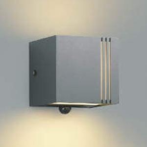コイズミ照明 LED一体型ポーチ灯 防雨型 上下面照射タイプ 白熱球40W相当 電球色 マルチタイプ人感センサ付 ダークグレーメタリック AU45801L