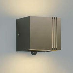 コイズミ照明 LED一体型ポーチ灯 防雨型 上下面照射タイプ 白熱球40W相当 電球色 マルチタイプ人感センサ付 ブラウンメタリック AU45803L