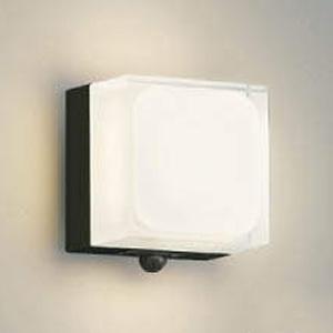 コイズミ照明 LED一体型ポーチ灯 防雨型 白熱球60W相当 電球色 マルチタイプ人感センサ付 黒 AU45866L