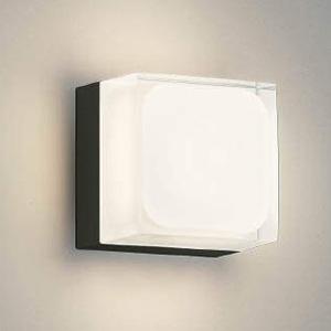 コイズミ照明 LED一体型ポーチ灯 防雨型 白熱球60W相当 電球色 調光タイプ 黒 AU45870L