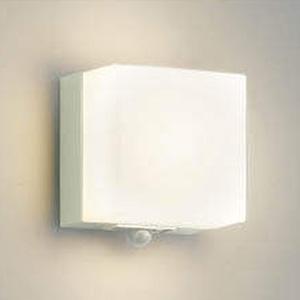 コイズミ照明 LED一体型ポーチ灯 防雨型 白熱球60W相当 電球色 マルチタイプ人感センサ付 オフホワイト AU45873L