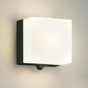 コイズミ照明 LED一体型ポーチ灯 防雨型 白熱球60W相当 電球色 マルチタイプ人感センサ付 黒 AU45874L