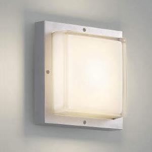 コイズミ照明 LED一体型ブラケットライト 防雨・防湿型 白熱球60W相当 電球色 シルバーメタリック AU45915L