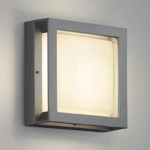 コイズミ照明 LED一体型ブラケットライト 防雨・防湿型 ガードタイプ 白熱球60W相当 電球色 ダークグレーメタリック AU45916L