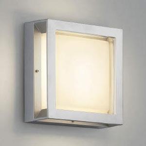 コイズミ照明 LED一体型ブラケットライト 防雨・防湿型 ガードタイプ 白熱球60W相当 電球色 シルバーメタリック AU45917L