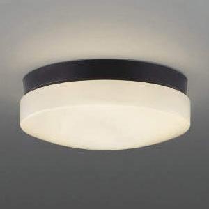 コイズミ照明 LED軒下シーリングライト 防雨・防湿型 天井・壁面取付用 FCL20W相当 電球色 黒 AU46891L