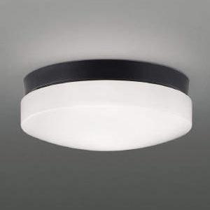 コイズミ照明 LED軒下シーリングライト 防雨・防湿型 天井・壁面取付用 FCL30W相当 昼白色 黒 AU46888L
