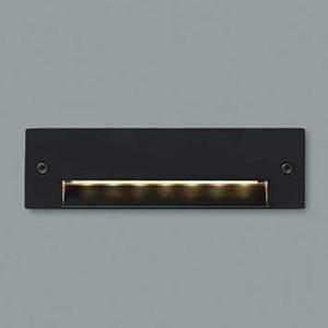 コイズミ照明 LED一体型フットライト 防雨型 壁面埋込専用型 電球色 黒 AU46981L