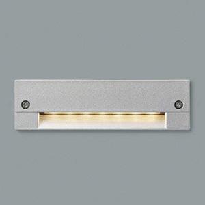 コイズミ照明 LED一体型フットライト 防雨型 壁面埋込専用型 電球色 シルバーメタリック AU46982L