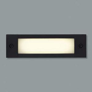 コイズミ照明 LED一体型フットライト 防雨型 壁面埋込専用型 電球色 黒 AU46983L