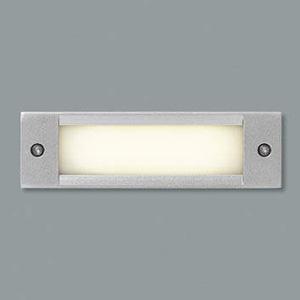 コイズミ照明 LED一体型フットライト 防雨型 壁面埋込専用型 電球色 シルバーメタリック AU46984L