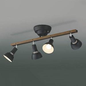 コイズミ照明 LEDシャンデリア 白熱球60W×4灯相当 電球色 リモコン付 黒 AA47243L