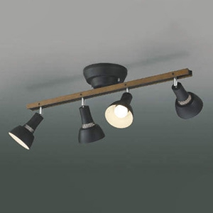 コイズミ照明 売れ筋ランキング LEDシャンデリア 白熱球60W×4灯相当 黒 電球色 AL完売しました AA47247L