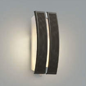 コイズミ照明 LEDポーチ灯 防雨型 不透過タイプ 白熱球40W相当 電球色 タイマー付人感センサ付 シックブラウン AU47307L