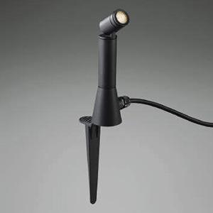 コイズミ照明 LEDエクステリアスポットライト 防雨型 スパイク式 白熱球40W相当 電球色 広角タイプ プラグ付 サテンブラック AU47313L