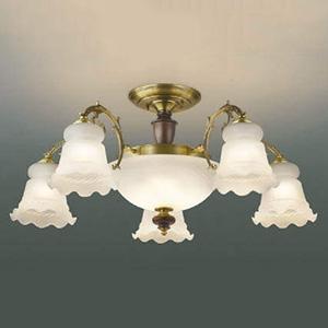 コイズミ照明 LED一体型シャンデリア 《LUMBRANTE》 ~14畳用 リフォーム対応タイプ 電球色 調光タイプ リモコン付 AA47627L
