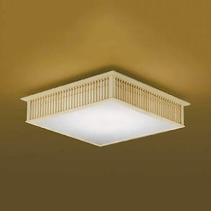 コイズミ照明 LED和風シーリングライト 《千山格子》 ~6畳用 電球色~昼光色 調光・調色タイプ リモコン付 AH48751L