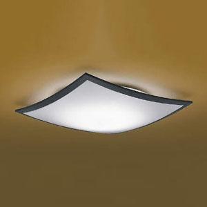 コイズミ照明 LED和風シーリングライト 《詩旗》 ~8畳用 電球色~昼光色 調光・調色タイプ リモコン付 黒 AH48759L